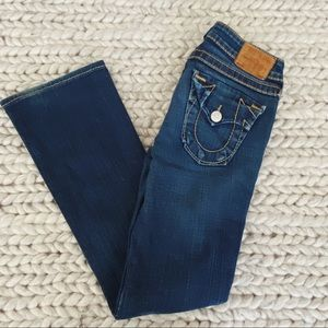 TRUE RELIGION brand Size 27 mid rise Boot cut jeans